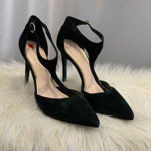 Jessica Simpson black suede heels shoes size 10M